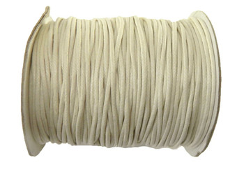 80 Yards Off White Cream Waxed Cotton Cord 2mm To 3mm For Bracelet/ Necklace 80 Meeter Z-G-100709253314005