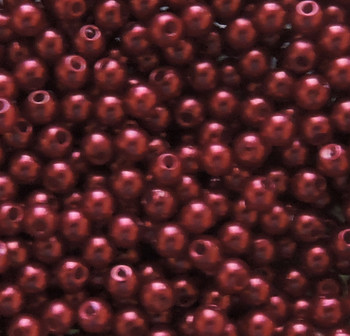 Red 8mm Acrylic Round Beads Pearl Coated Bags Approx 80 Beads G108R
