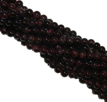 6mm Garnet Gemstone Round Beads 15 Inch Loose Strand B2-M102