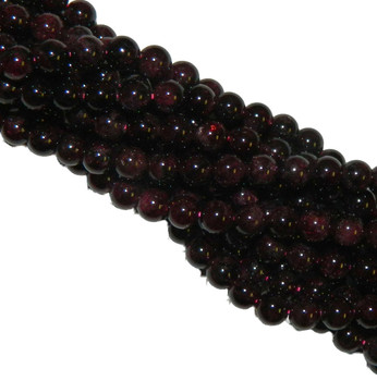 10mm Garnet Gemstone Round Beads 15 Inch Loose Strand B2-M104