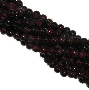 12mm Garnet Gemstone Round Beads 15 Inch Loose Strand B2-M105