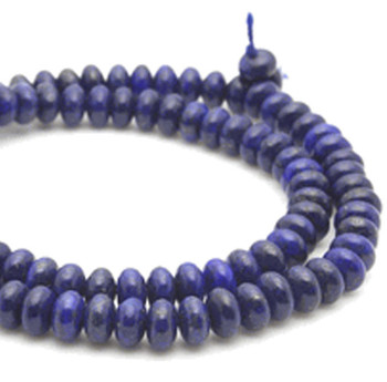 6mm Natural Lapis Lazuli Gemstone Rondelle Beads 15 Inch Loose Strand B2-M326