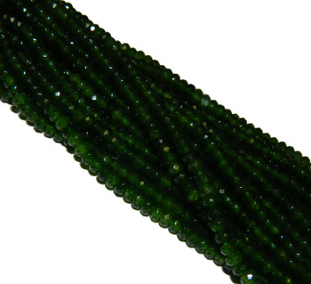 British Columbia Jade 4mm Faceted Gemstone Rondelle Beads 15 Inch Loose B2-Sc1C48