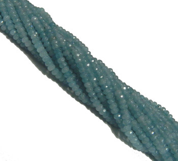 Amazonite 4mm Faceted Dyed Gemstone Rondelle Beads 15 Inch Loose B2-Sc1D51