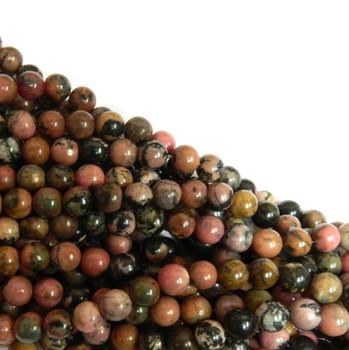 Rhodonite 4mm Natural Gemstone Rondelle Beads 15 Inch Loose B2-R14-4
