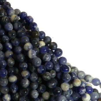 Sodalite 4mm Natural Gemstone Rondelle Beads 15 Inch Loose B2-R24-4