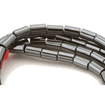 3x5mm Hematite Manmade Tube Beads 15 Inch Loose Srand B2-H1