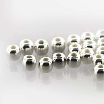 Round Druk True2S 2mm Czech Glass Fine Silver Plate 600 Beads-Loose Dk0200030-Sl