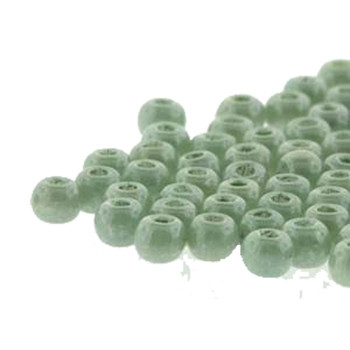 Round Druk True2S 2mm Czech Glass Chalk Dk Green Luster 600 Pcs-Loose Dk0203000-14459