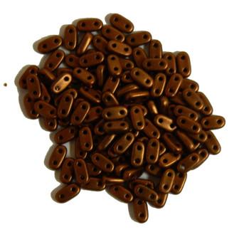 Metallic Antique Copper Matte Seed Bead Bar Czech Glass Czechmate Beads 9.5 Grams 6x3mm 2mm Thick Bar26-K0175Jt