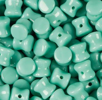 Opaque Rturquoise Green Preciosa Czech Glass 4x6mm Pellet 30 Beads Plt46-63130