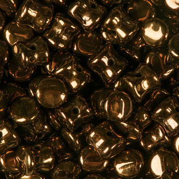 Jet Dark Bronze Preciosa Czech Glass 4x6mm Pellet 30 Beads Plt46-23980-14415
