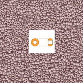 Pale Cocoa Fancy Frosted Miyuki Japanese Round Rocailles Glass Seed Beads 11/0 Approx 24 Gram # 2027