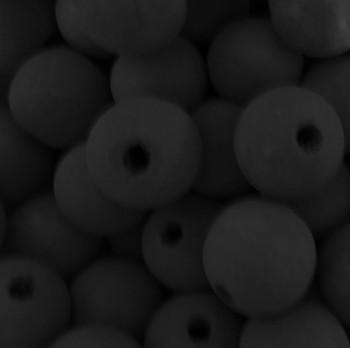 6 Black 22mm Macrame Large 5mm Hole Barrel Rose Wood Beads Ac-W429-Black