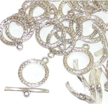 3 Antique Silver 3/4 Inch Toggle Clasps 20mm Ac-B03780