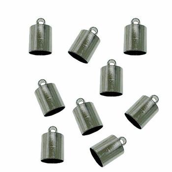 10 Gunmetal Plated Brass Cord End Cap 5x9x5mm Inside 4 5mm Ac-131129161234-5x9Gm