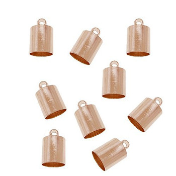 10 Copper Plated Brass Cord End Cap 5x9x5mm Inside 4 5mm Ac-131129161234-5x9Cp