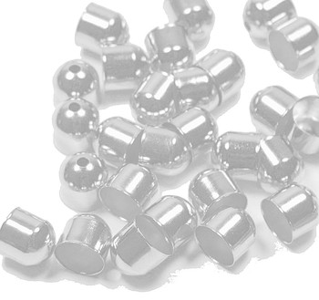 10 Cord Tips/Caps Silver-Plated Brass 8x8mm Outside Diameter Ac-2214Fn