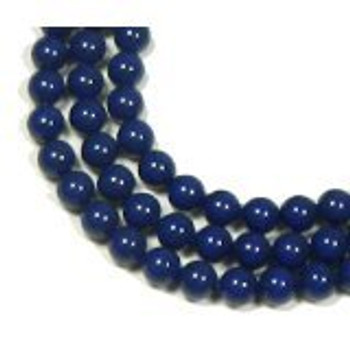 "200 Swarovski Pearls 3mm Round Beads 5810. 24"" Loose Strand Dark Lapis"