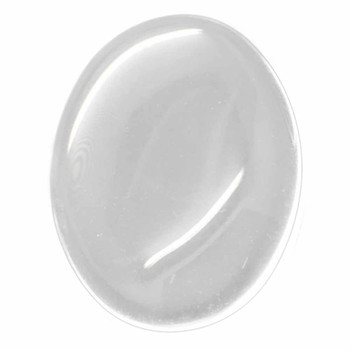 3 Clear Glass Dome Tile Cabochon Clear 40x30mm Non-Calibrated Oval Ac-B15079