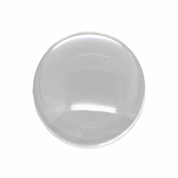 3 Clear Glass Dome Tile Cabochon Clear 22mm Non-Calibrated Round Ac-B15194