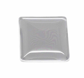 "3 Clear Glass Dome Tile Cabochon Clear 25x25mm 1"" Non-Calibrated Square Ac-B13939"