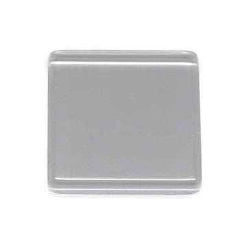 "3 Clear Glass Tile Cabochon Clear 25x25mm 1"" Non-Calibrated Square Ac-B15124"