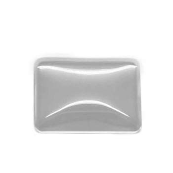 """3 Clear Dome Glass Tile Cabochon Clear 25x19mm 1""""x3/4"""" Non-Calibrated Rectangle Ac-B17029"""