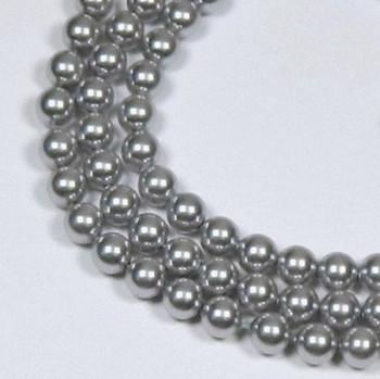 "200 Swarovski Pearls 3mm Round Beads 5810. 24"" Loose Strand Dark Grey 581003Grydk"""