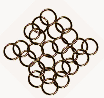 24 Grams Aprox 110 Jump Rings Antique Copper Plated Brass 9mm Round 16 Gauge Z-G-080527035743-Ac