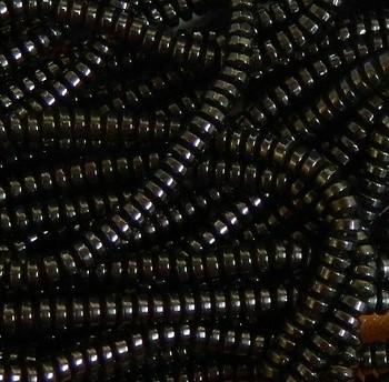4mm Hematite Rondelle Gemstone Round Beads 15 Inch Loose Strand B2-H7