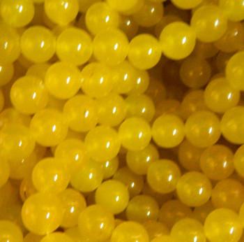 6mm Yellow Chalcedony Gemstone Round Beads 15 Inch Loose Strand B2-6B92