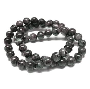 4mm Round Black Labradorite Gemstone Beads 15 Inch Loose Strand B2-4D40