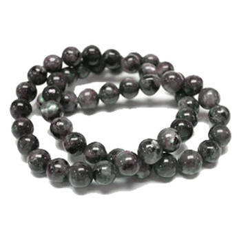 10mm Round Black Labradorite Gemstone Beads 15 Inch Loose Strand B2-10D40