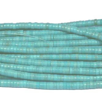 8x3mm Blue Chalk Turquoise Heshi Beads 15 Inch Loose Strand B2-Ts117