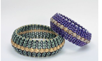 Superduo Honeycomb Bangle Free jewelry patern Superduo Honeycomb Bangle