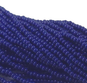 Blue Opaque Czech 11/0 Glass Seed Beads 1 Full Hank Preciosa 8122Sb
