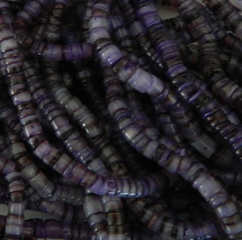 4-5mm Mother Of Pearl Beads 24 Inch Loose Strand Purple Hammer Shell Heishi Ph-Bfj009Hs