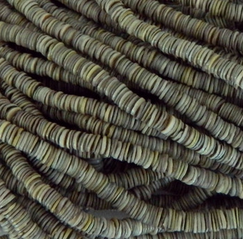 4-5mm Mother Of Pearl Beads 24 Inch Loose Strand Gray Grren Shell Heishi Brown Ph-Bfj005Hs