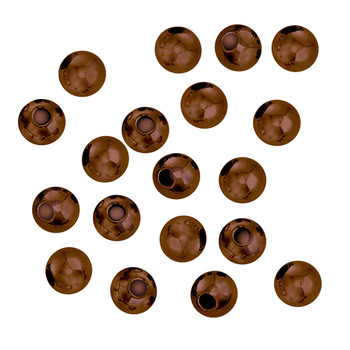 100 Antique Copper Plated Brass Beads 5mm Round Jewelry Spacer Metal Beads Z-G-090709094043-Ac