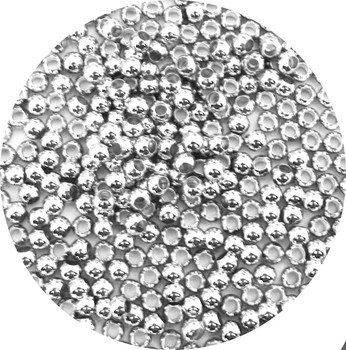 100 Silver Plated Brass Beads 4mm Round Jewelry Spacer Metal Beads Z-G-091015175914-Sp
