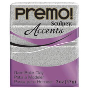 Sculpey Premo Accents Polymer Clay 2Oz Gray Granite Da-Pfm5065