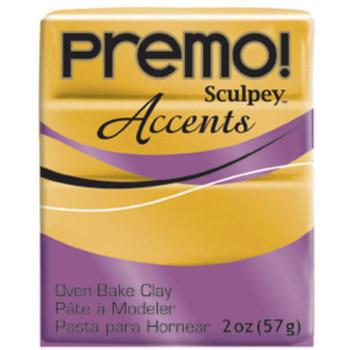 Sculpey Premo Accents Polymer Clay 2Oz Gold Da-Pfm5055