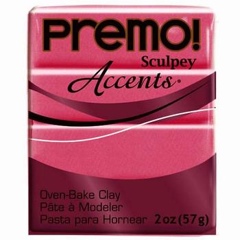 Sculpey Premo Accents Polymer Clay 2Oz Magenta Pearl Da-Pfm5029