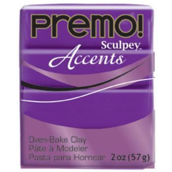 Sculpey Premo Accents Polymer Clay 2Oz Purple Pearl Da-Pfm5031