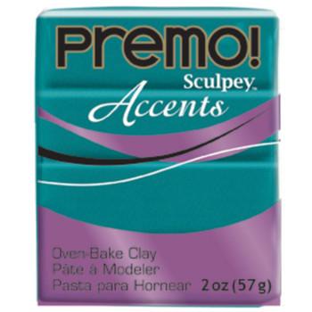 Sculpey Premo Accents Polymer Clay 2Oz Peacock Pearl Da-Pfm5038
