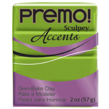 Sculpey Premo Accents Polymer Clay 2Oz Bright Green Pearl Da-Pfm5035