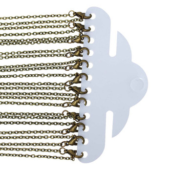 12 Pack Antique Gold/Brass Plated 2mm Cable Chain 30-3/8 Inch Rb53081