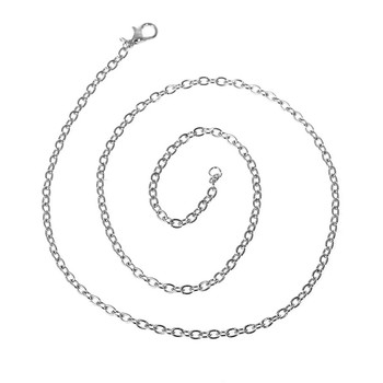 12 Pack Steel Tone Plated 3mm Figaro Chain Necklace 20 Inch Rb75666