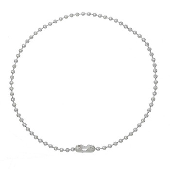 12 Pack Silver Plated 2mm Fine Ball Chain Bracelet 7-7/8 Inch Rb60448